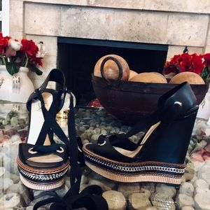 Christian Louboutin Tribuli Chain Wedge Sandal